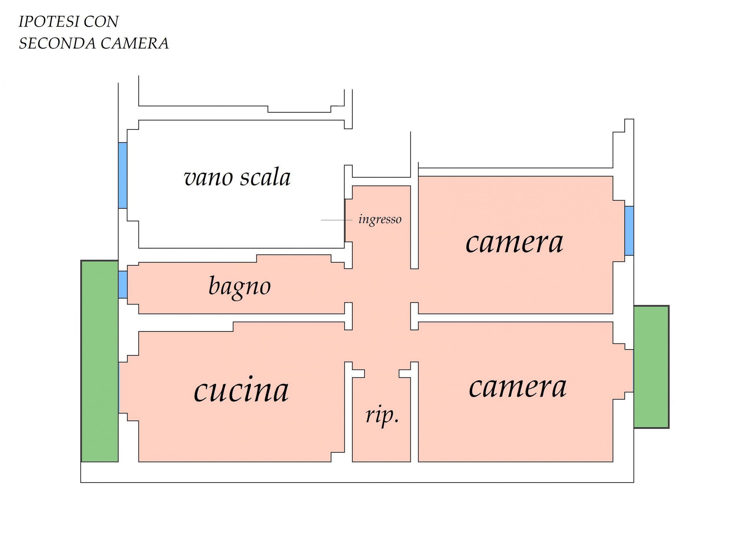 Planimetria con ipotesi seconda camera